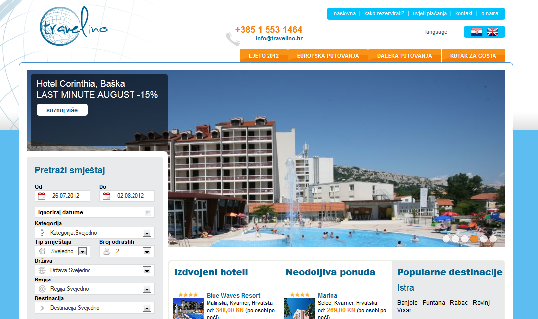 Travel Agency Website >> Travelino New Travel Agency Website Launched Lemax